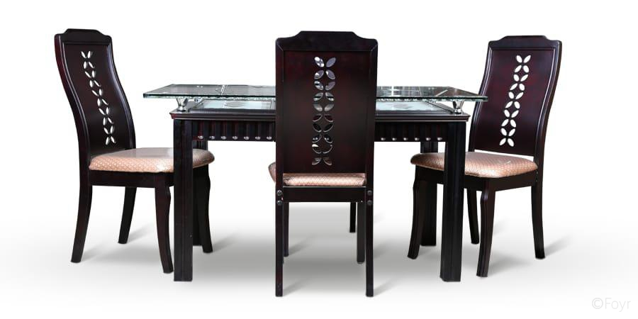 Glass Dining Table With 4 Chairs In Hyderabad Chair Dining Tables